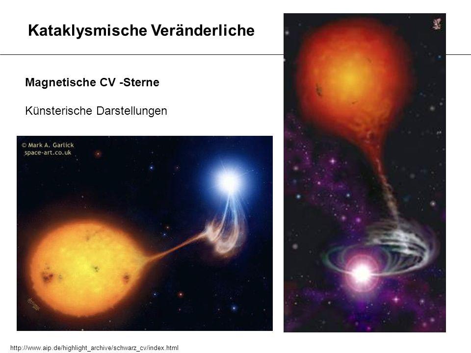 Kataklysmische Veränderliche Magnetische CV -Sterne Künsterische Darstellungen http://www.aip.de/highlight_archive/schwarz_cv/index.html
