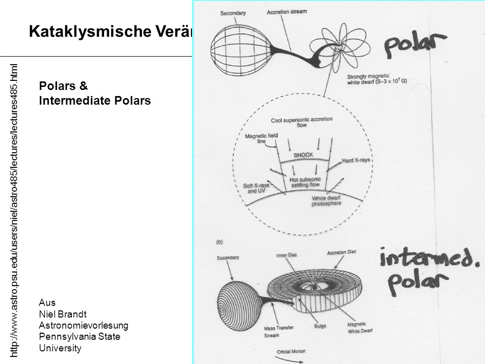 Kataklysmische Veränderliche Polars & Intermediate Polars Aus Niel Brandt Astronomievorlesung Pennsylvania State University http://www.astro.psu.edu/u