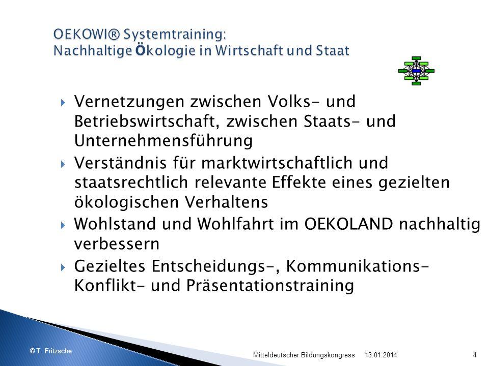 © T. Fritzsche 13.01.2014Mitteldeutscher Bildungskongress4 Vernetzungen zwischen Volks- und Betriebswirtschaft, zwischen Staats- und Unternehmensführu