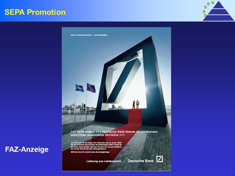 4 SEPA Promotion FAZ-Anzeige