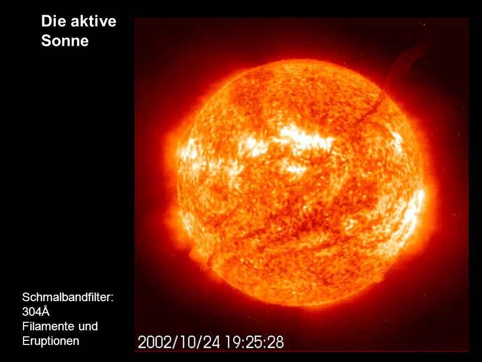 Die aktive Sonne Schmalbandfilter: 304Å Filamente und Eruptionen