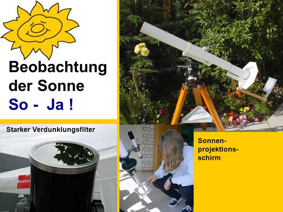 Starker Verdunklungsfilter Sonnen- projektions- schirm Beobachtung der Sonne So - Ja !