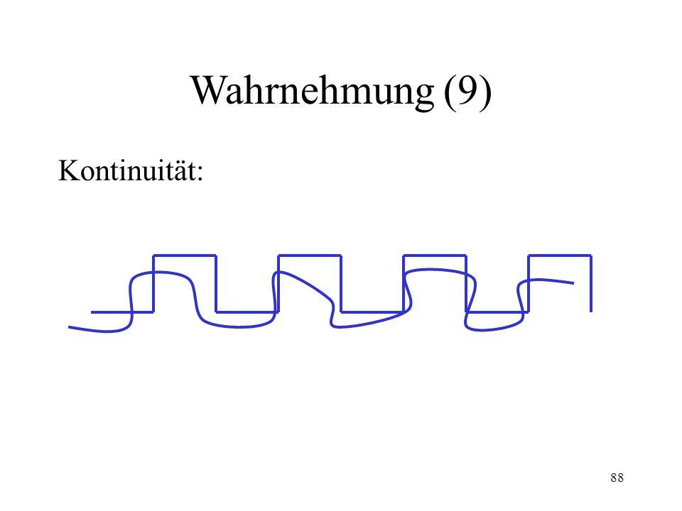 88 Wahrnehmung (9) Kontinuität: