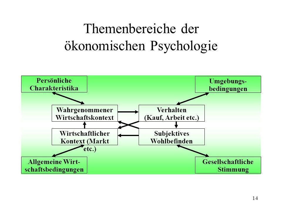 13 Charakteristika Ökonomie Einige wenige fundamentale Annahmen (The economic approach; G.