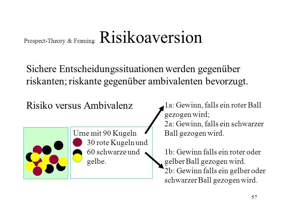 56 Prospect-Theory & Framing Risikoaversion 18.