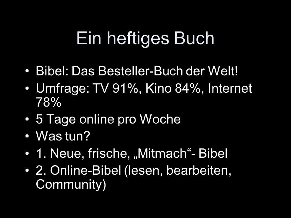 Ein heftiges Buch Bibel: Das Besteller-Buch der Welt.