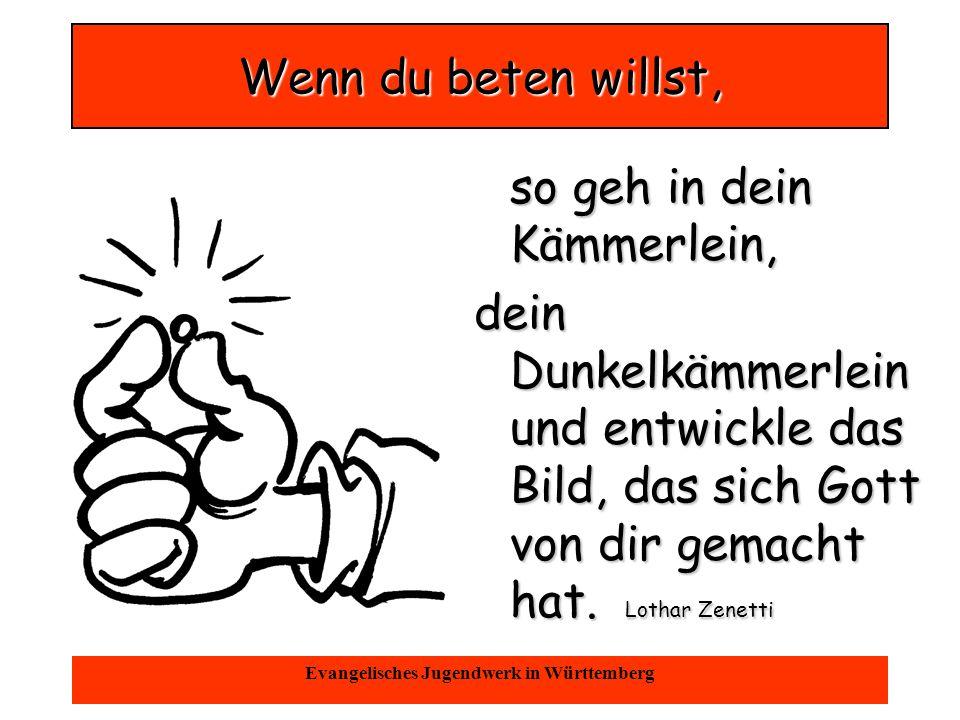Oktober 2004Evangelisches Jugendwerk in Württemberg Nicht alle unsere Gebete werden erhört, aber Gott hört alle Gebete!