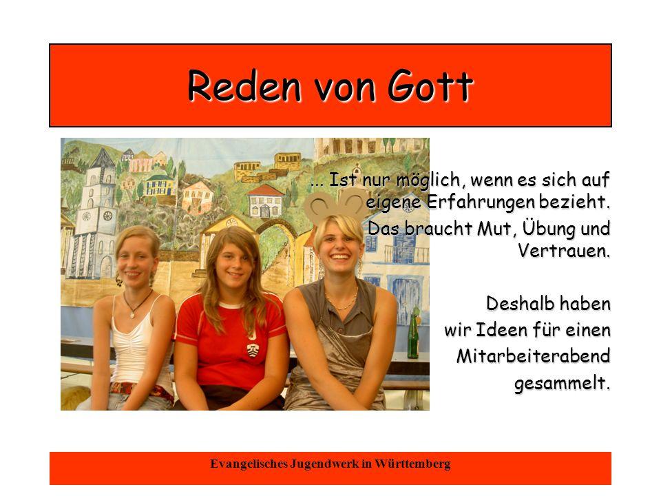 Oktober 2004Evangelisches Jugendwerk in Württemberg Gott ist nur ein Gebet weit entfernt...