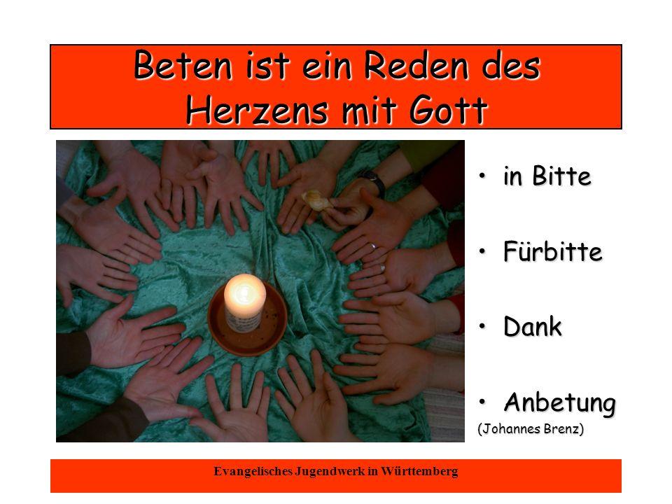 Oktober 2004Evangelisches Jugendwerk in Württemberg Reden von Gott...