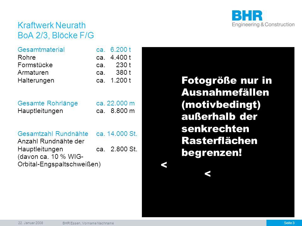 22. Januar 2008 BHR Essen, Vorname Nachname Seite 3 Gesamtmaterialca.