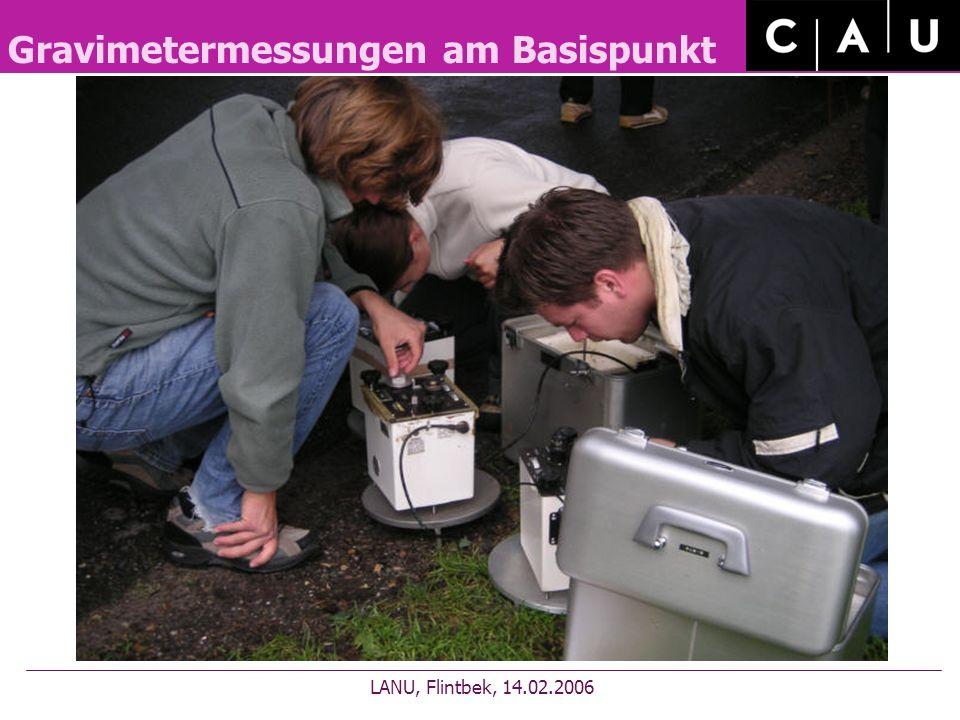 Gravimetermessungen am Basispunkt LANU, Flintbek, 14.02.2006