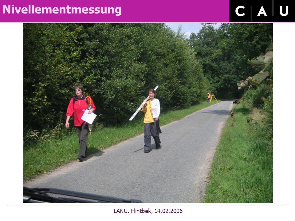Nivellementmessung LANU, Flintbek, 14.02.2006
