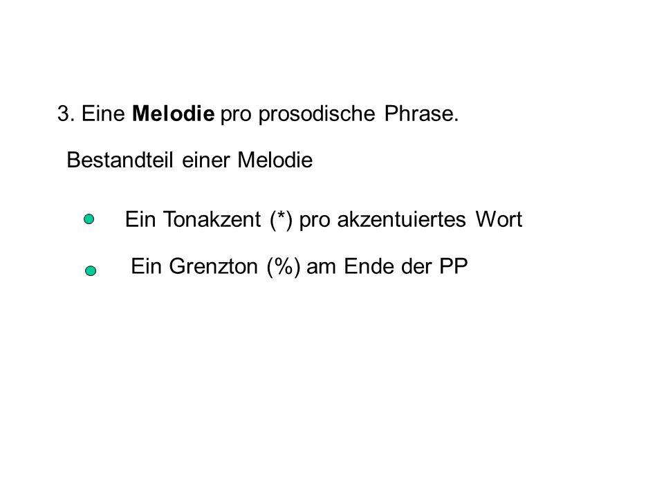 3.Eine Melodie pro prosodische Phrase.