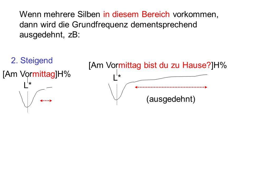 Wenn mehrere Silben in diesem Bereich vorkommen, dann wird die Grundfrequenz dementsprechend ausgedehnt, zB: 2.