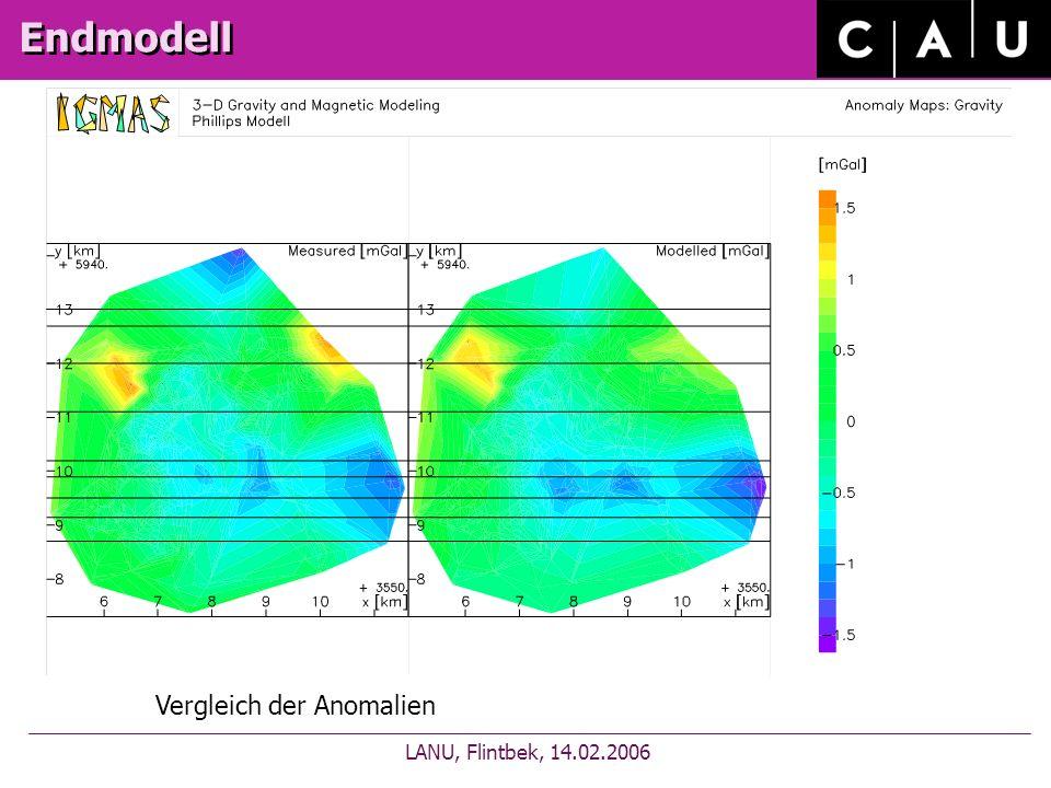 Endmodell LANU, Flintbek, 14.02.2006 Vergleich der Anomalien