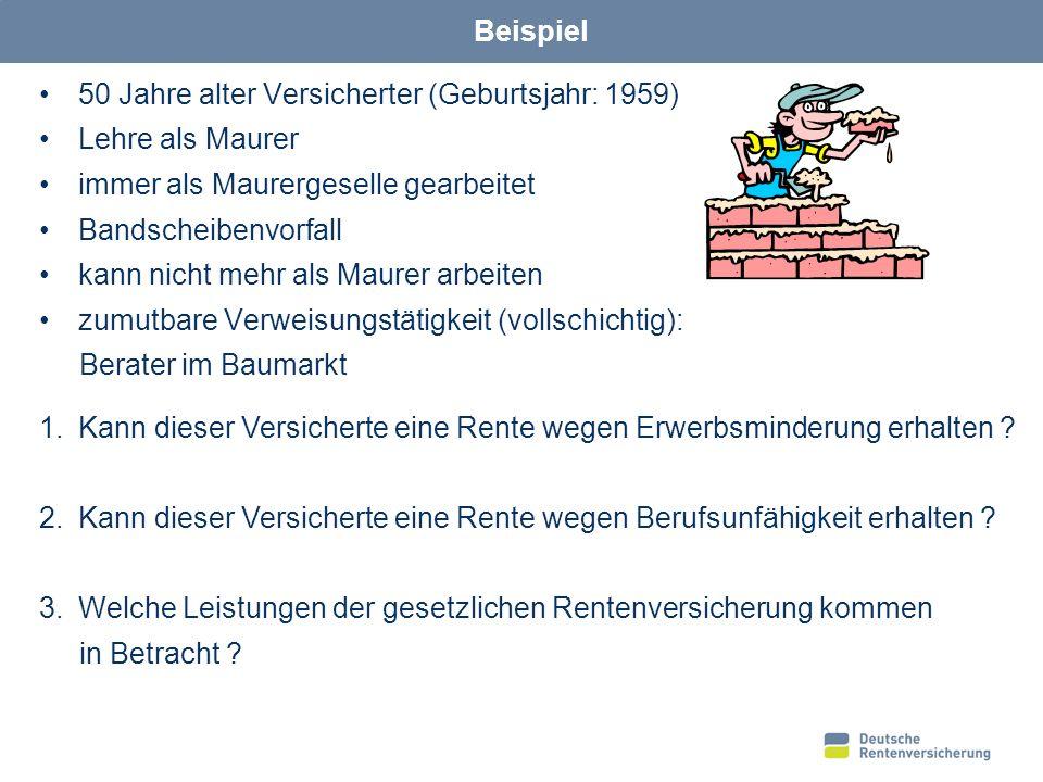 12 Zumutbarkeit des Verweisungsberufes 5.Akademiker Meister / Vorarbeiter 4.