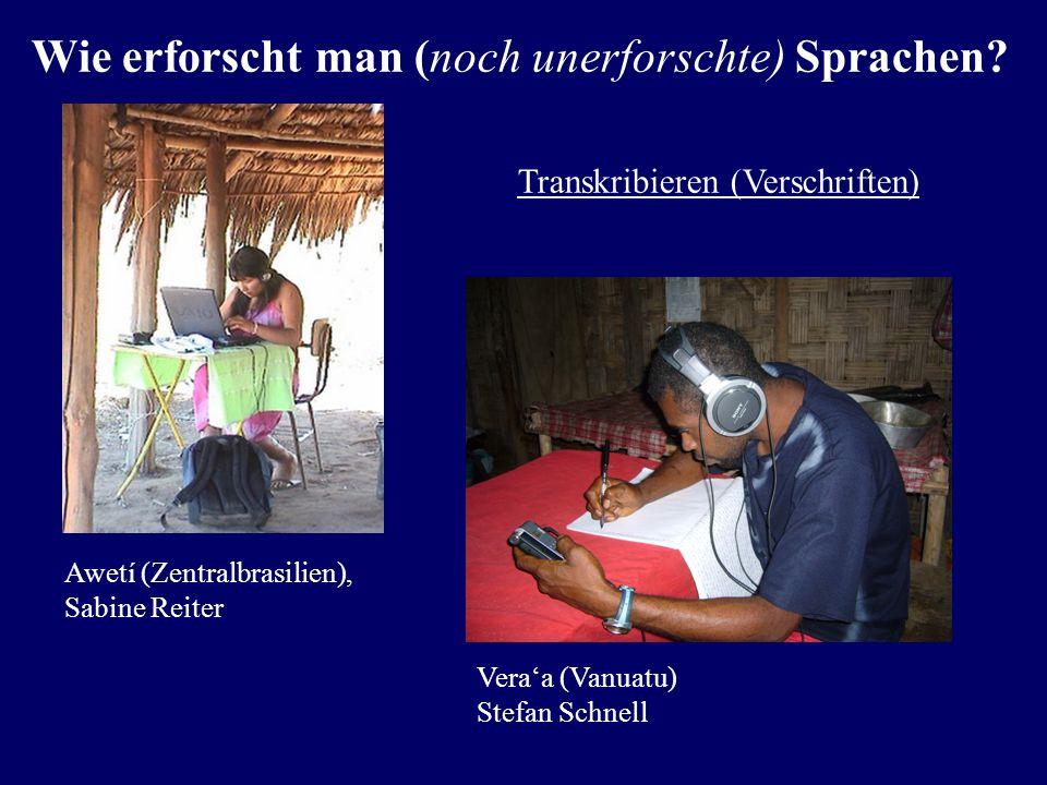 Tonaufnahmen Amazonas/Brasilien Tonstudio Universität Kiel Wie erforscht man (noch unerforschte) Sprachen?