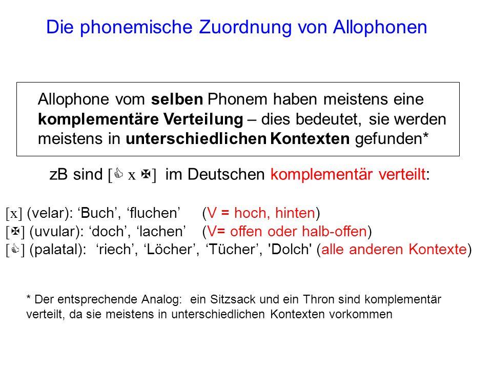 Man nennt Phone (=die Einheiten der phonetischen Ebene) manchmal Allophone, wenn man deren Zuordnung zu ihren jeweiligen Phonemen verdeutlichen will P