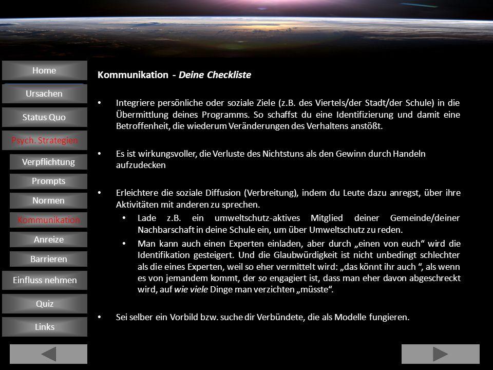 Kommunikation - Deine Checkliste Integriere persönliche oder soziale Ziele (z.B.