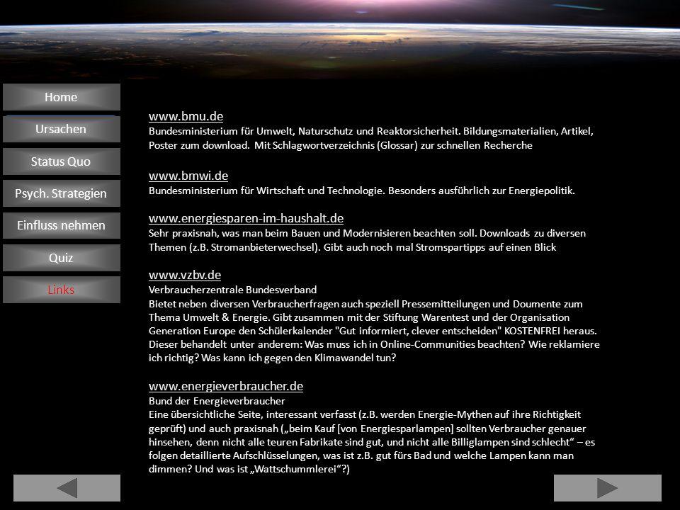 www.bmu.de Bundesministerium für Umwelt, Naturschutz und Reaktorsicherheit. Bildungsmaterialien, Artikel, Poster zum download. Mit Schlagwortverzeichn