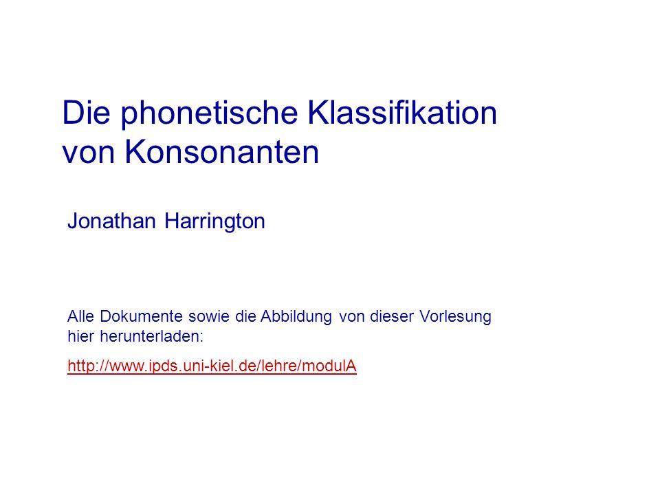 Klassifikation von Konsonanten 1.Luftströmung Was ist die Quelle der Kraft.
