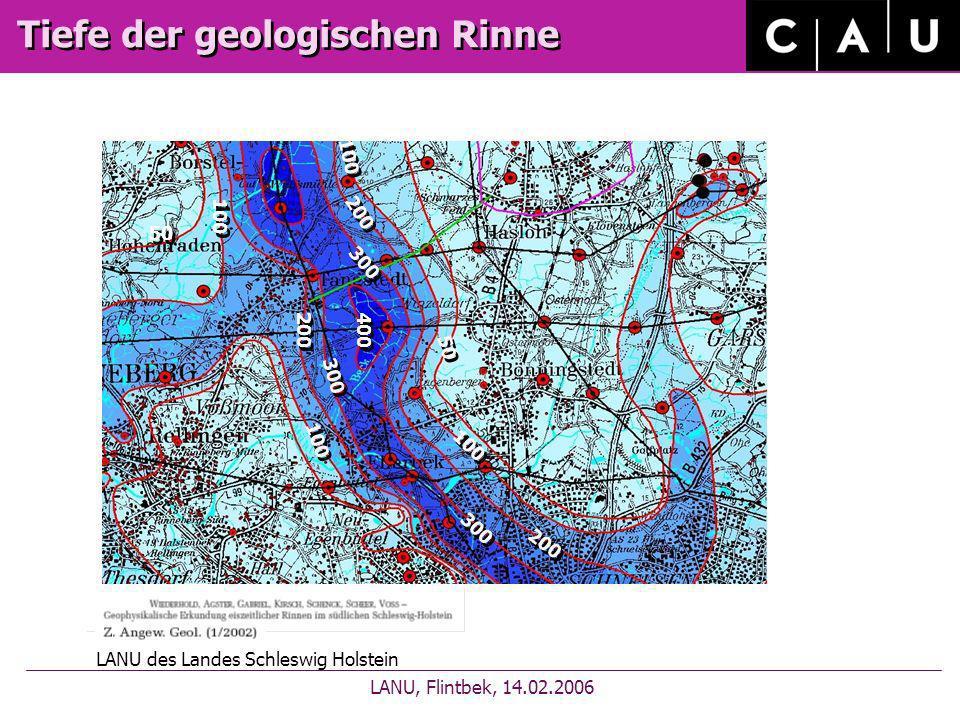 Schematischer geologischer Schnitt LANU, Flintbek, 14.02.2006