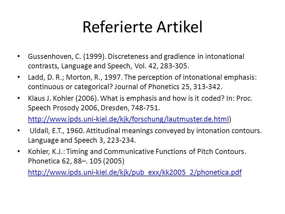 Funktion in den anderen Texten: Gussenhoven: Linguistisch vs.