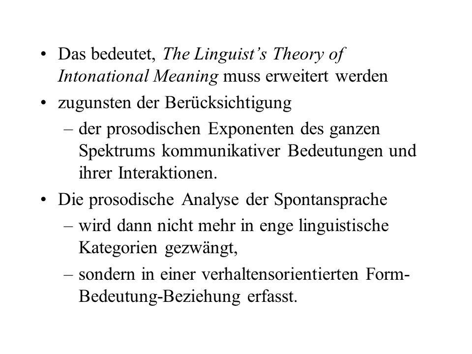 direkte Bindung zwischen phonetischer Substanz und Verhalten ist ebenfalls zu berücksichtigen – J. Ohalas Frequency Code ¶hohes vs. tiefes F0 ¶Unteror