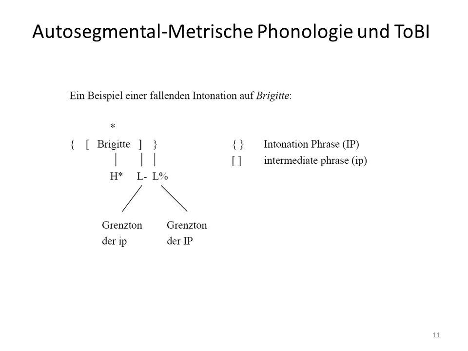 Autosegmental-Metrische Phonologie und ToBI 11