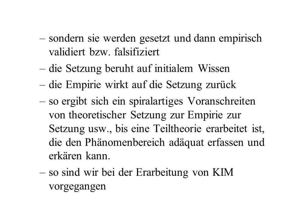 Diese theorieorientierte Phonetik unterscheidet sich grundlegend von einer empiristischen Laborphonologie –das Verhältnis von sprachlichen Kategorien und empirischer Manifestation ist in den beiden diametral entgegengesetzt –in der Erstgenannten werden Kategorien nicht durch Messung und statistische Analyse in Emu und R aus der physikalischen Welt aufgeschlürft