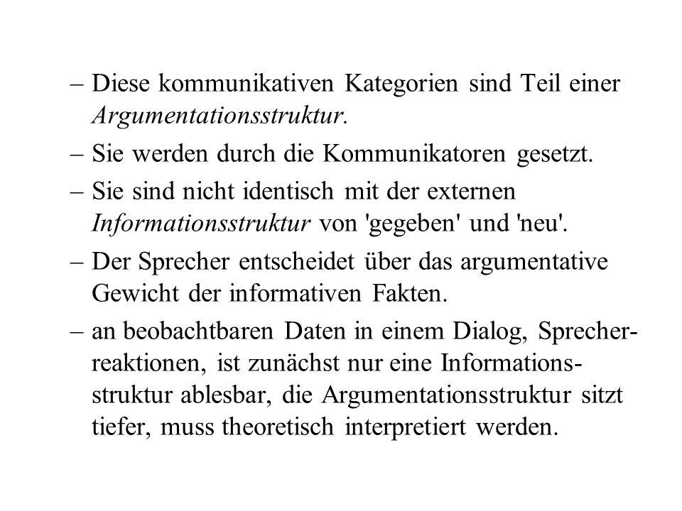 –Diese kommunikativen Kategorien sind Teil einer Argumentationsstruktur.