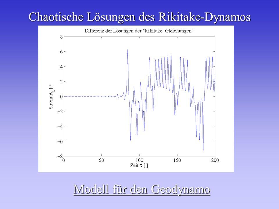 Chaotische Lösungen des Rikitake-Dynamos Modell für den Geodynamo