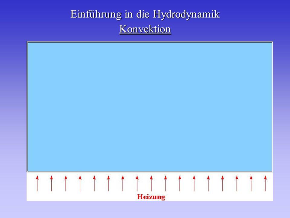 Einführung in die Hydrodynamik Konvektion