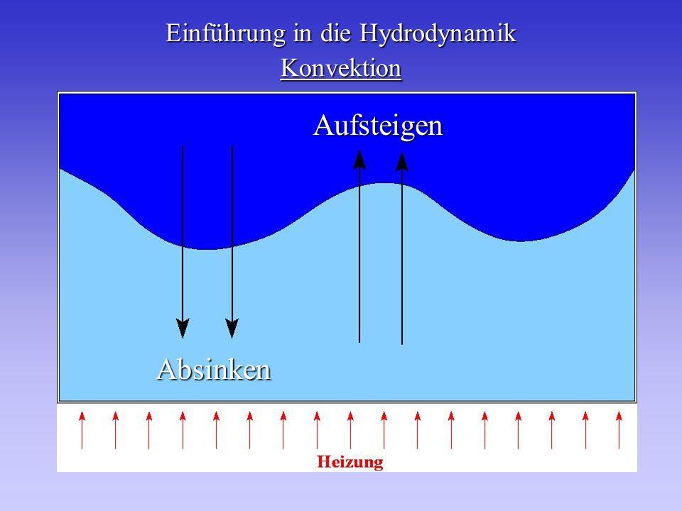 Einführung in die Hydrodynamik Konvektion Absinken Aufsteigen
