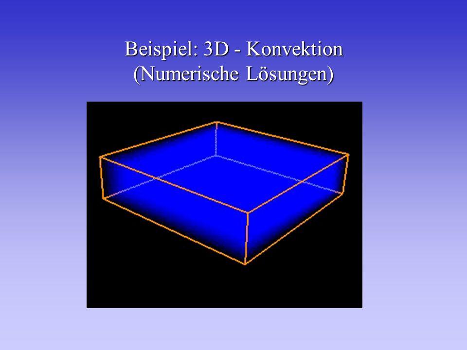 Beispiel: 3D - Konvektion (Numerische Lösungen)