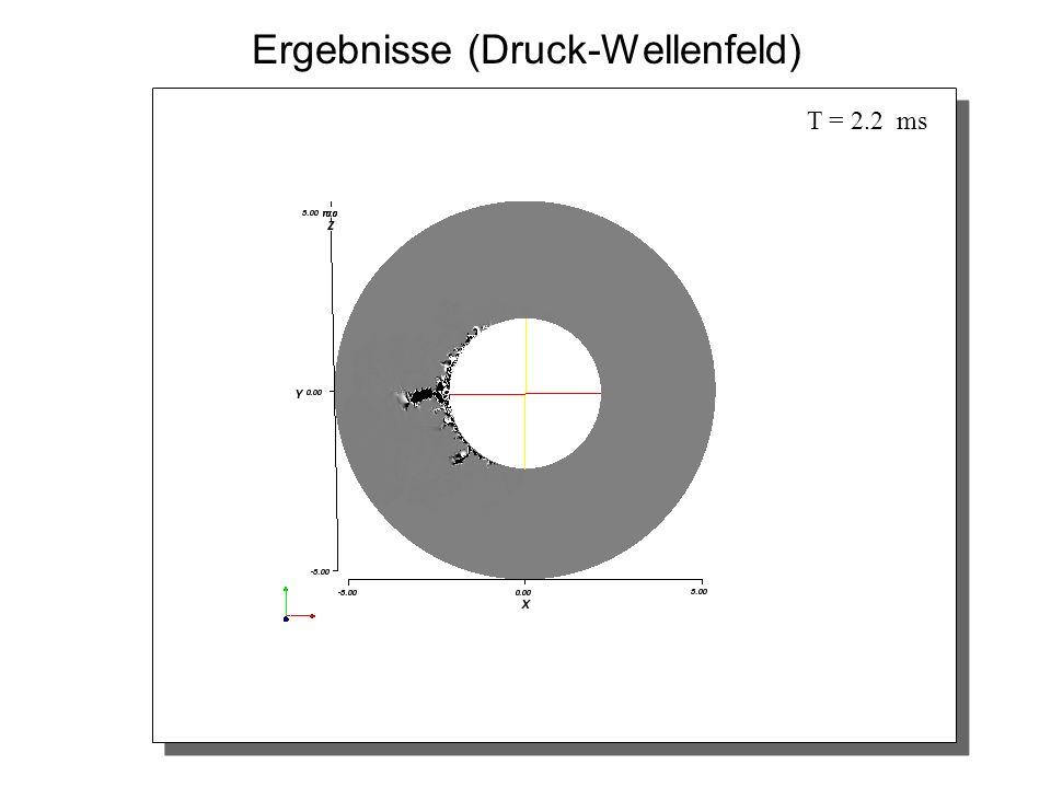Ergebnisse (Druck-Wellenfeld) T = 2.2 ms