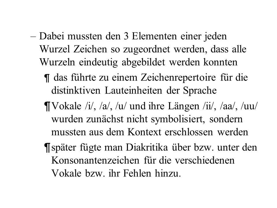 –Somit ist eine enge Beziehung zwischen semantischen Feldern und deren Kodierung durch Konsonantenartikulationen gegeben. –Diese Beziehung ist für die