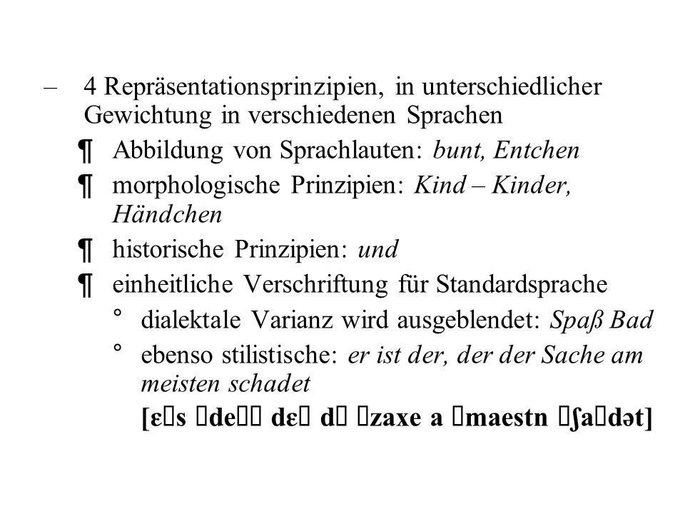 Der Erwerb der Alphabetschrift stellt daher im Deutschen und anderen nicht-semitischen Sprachen sehr viel höhere Anforderungen –phonetische Einheiten