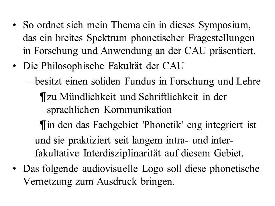 Dieser Übergang vom Schall zur Schrift und von der Schrift zum Schall wird somit zum zentralen Thema phonetischer Forschung und Lehre –IPDS Magisterar