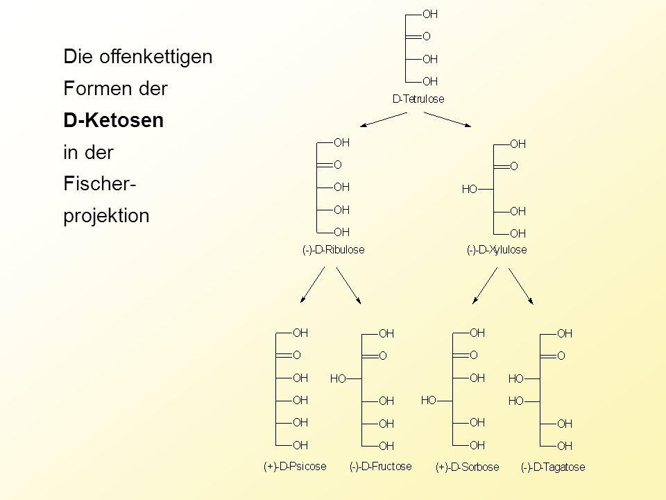 Die offenkettigen Formen der D-Ketosen in der Fischer- projektion