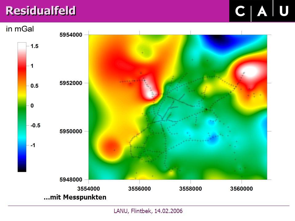 Residualfeld LANU, Flintbek, 14.02.2006 …mit Messpunkten