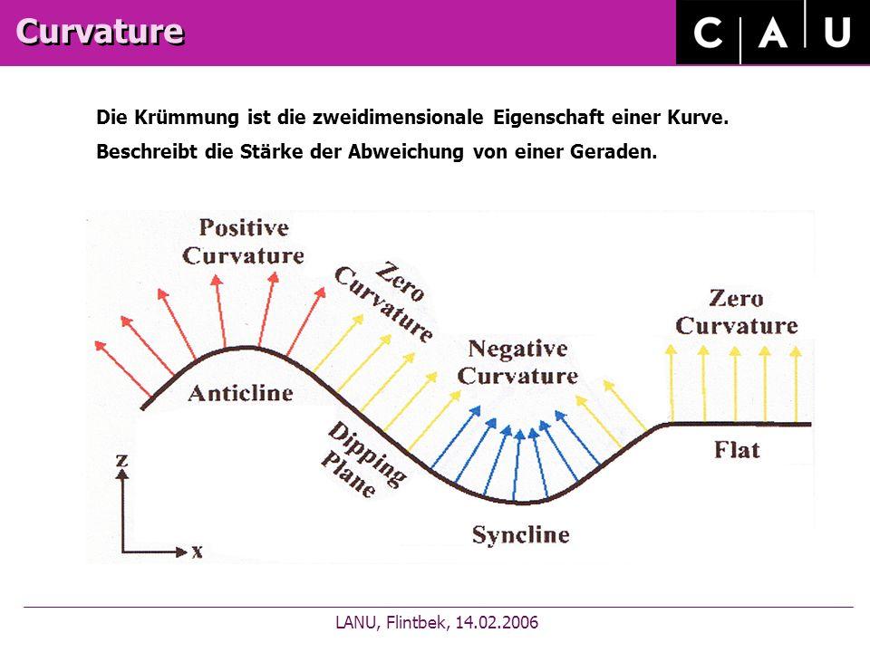 Curvature LANU, Flintbek, 14.02.2006 Die Krümmung ist die zweidimensionale Eigenschaft einer Kurve.