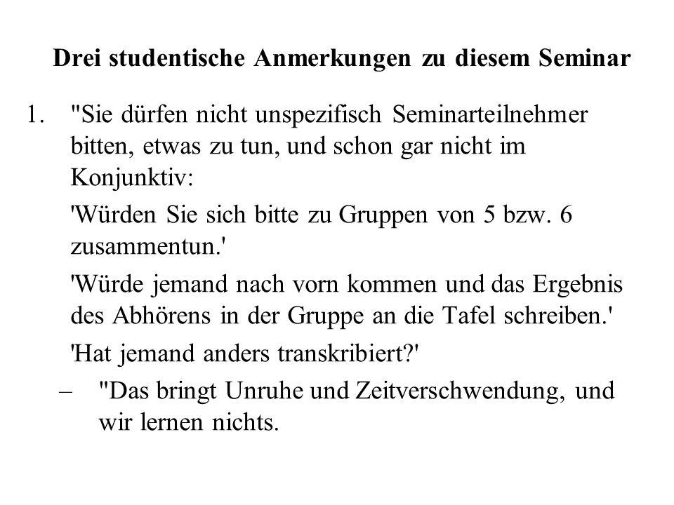 Auditive Bearbeitung von Lesetexten Französisch deutscher Muttersprachler Klaus J. Kohler IPDS, Kiel Hauptseminar Thun/Kohler/Pfitzinger, Roman. Semin