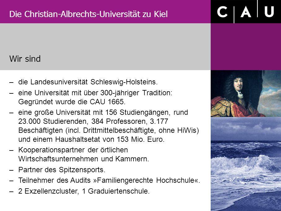 Die Christian-Albrechts-Universität zu Kiel –die Landesuniversität Schleswig-Holsteins. –eine Universität mit über 300-jähriger Tradition: Gegründet w