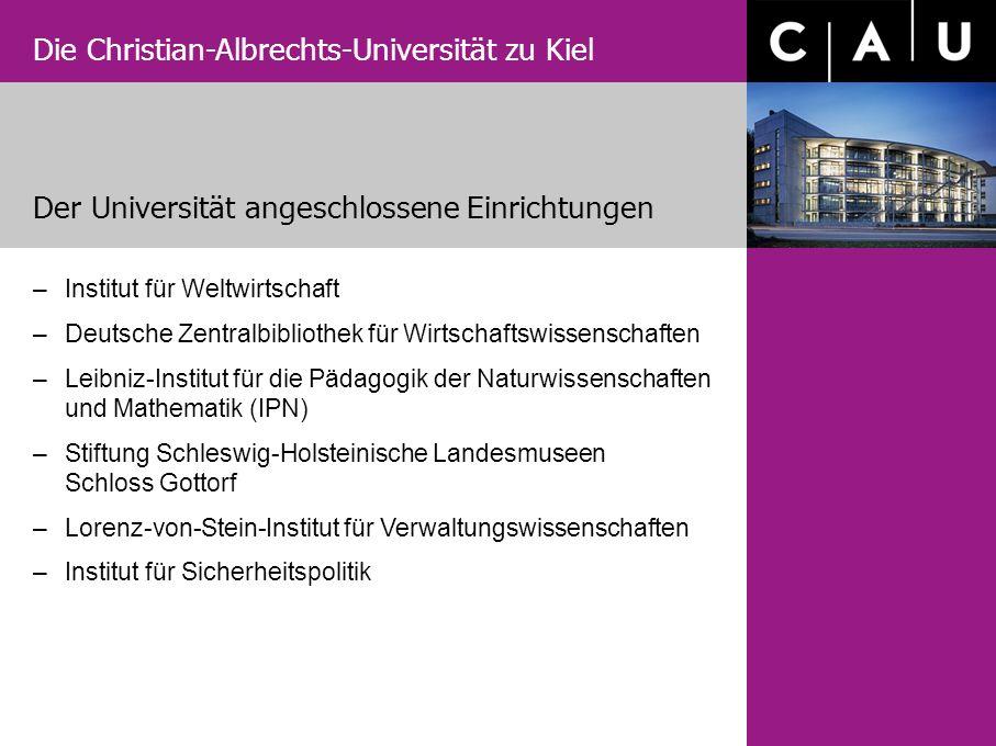 Die Christian-Albrechts-Universität zu Kiel Der Universität angeschlossene Einrichtungen –Institut für Weltwirtschaft –Deutsche Zentralbibliothek für