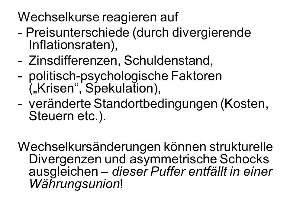 3.Anforderungen an eine Währungsunion Robert Mundell (geb.