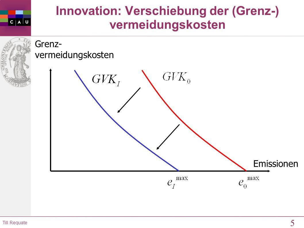 4 Till Requate 9.2 Anreize zur Adoption neuer Technologien Modellierung von Innovation über die Vermeidungskostenkurven: Vermeidungskostenkurve der ko