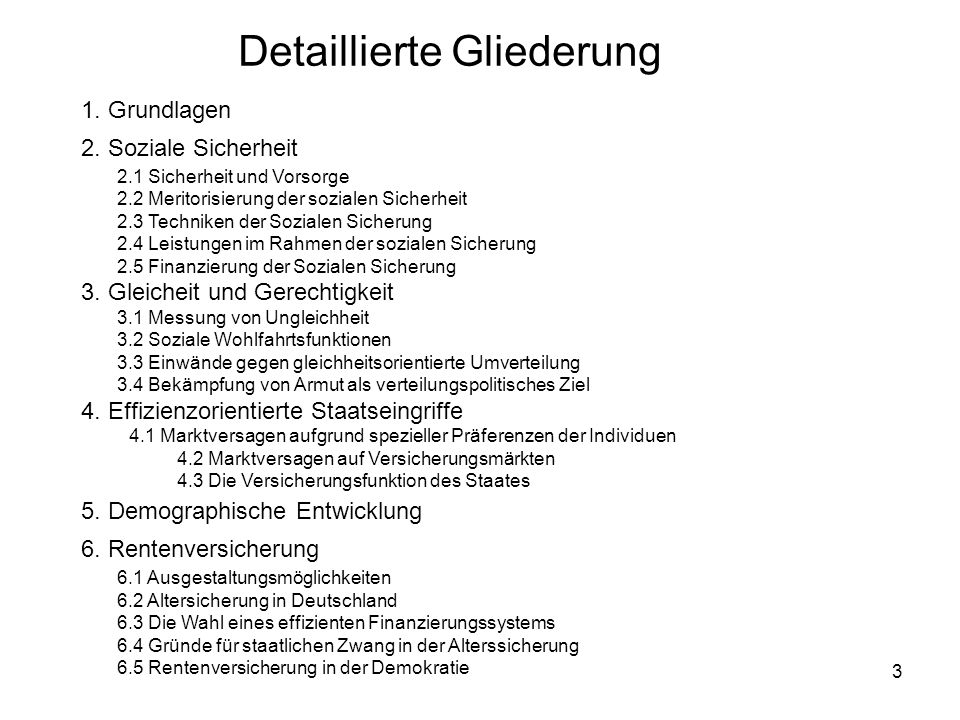 244 6 Rentenversicherung 1.Ausgestaltungsmöglichkeiten 2.Altersicherung in Deutschland 3.Die Wahl eines effizienten Finanzierungssystems 4.Gründe für staatlichen Zwang in der Alterssicherung 5.Rentenversicherung in der Demokratie