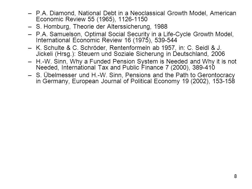 29 Soziale Sicherheit Sicherheit und Vorsorge statisch dynamisch Risikomin- derung Private Vorsorge: 1.Vermögensbildung 2.Versicherung 3.Subsid.