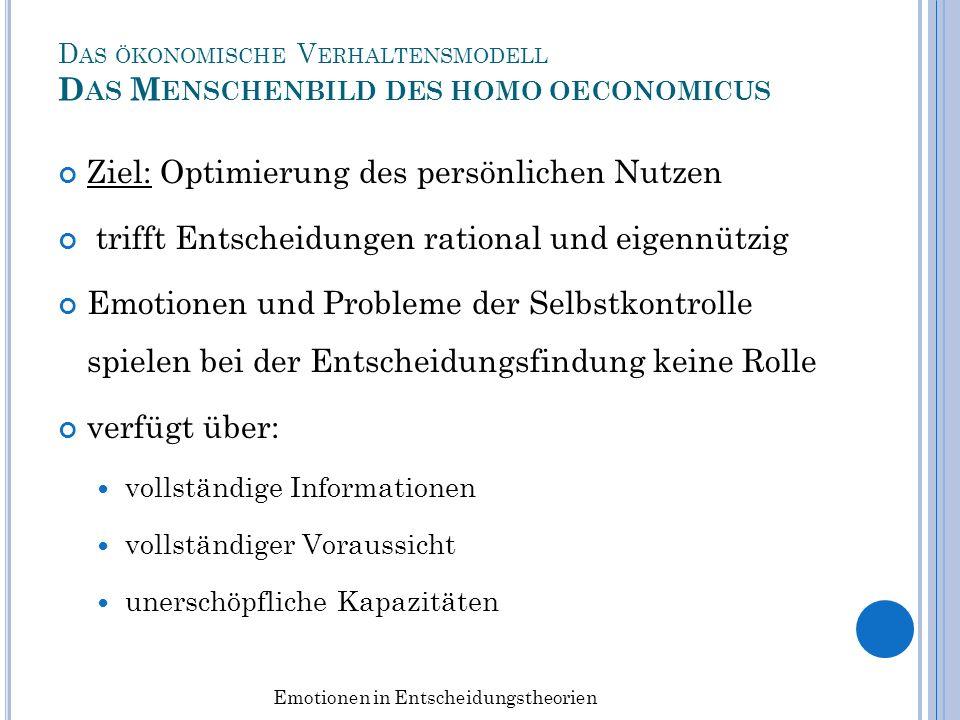 N EUROÖKONOMIE V ERNETZUNG NEUROWISSENSCHAFTLICHER UND - ÖKONOMISCHER U NTERSUCHUNGEN Studie von Alan Sanfey (2003) Ultimatum-Spiel (2 Varianten) 1.